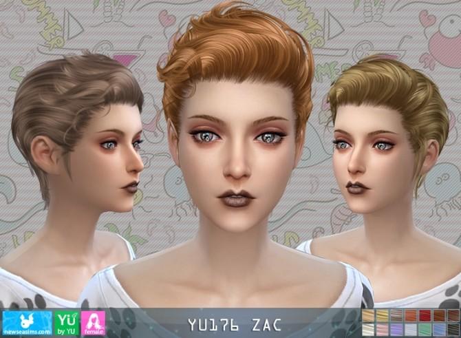 YU176 Zac hair F (P) at Newsea Sims 4 image 511 670x491 Sims 4 Updates