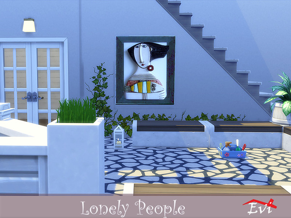 Lonely People wall art by evi at TSR image 5117 Sims 4 Updates
