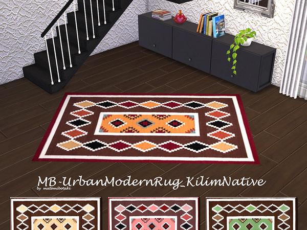 MB Urban Modern Rug Kilim Native by matomibotaki at TSR image 518 Sims 4 Updates