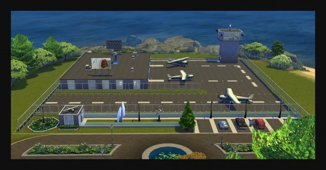 Landgraab International Airport Cafe Lot NO CC by Simmiller at Mod The Sims image 519 670x350 Sims 4 Updates