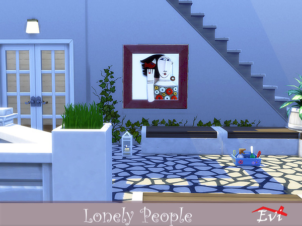 Lonely People wall art by evi at TSR image 5214 Sims 4 Updates