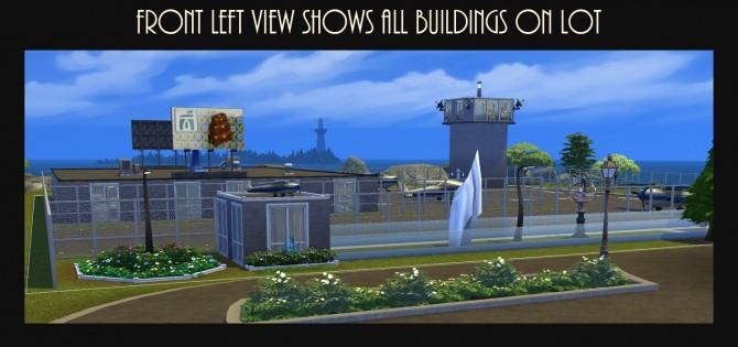 Sims 4 Landgraab International Airport Cafe Lot NO CC by Simmiller at Mod The Sims