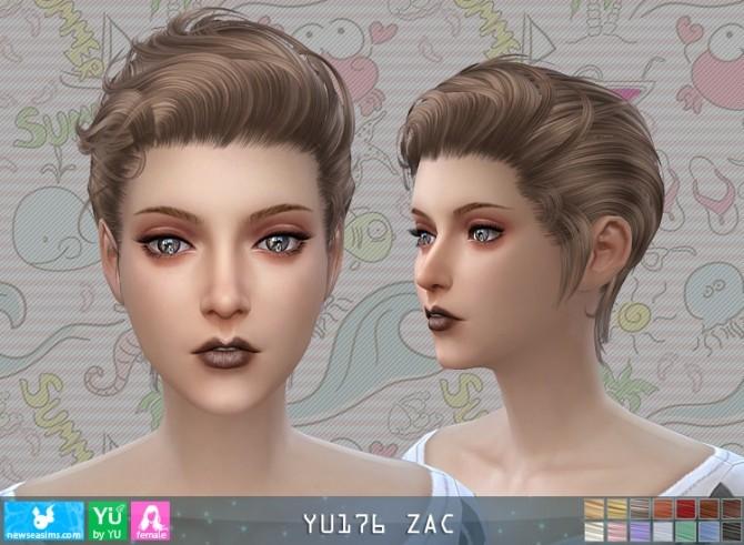 YU176 Zac hair F (P) at Newsea Sims 4 image 531 670x491 Sims 4 Updates