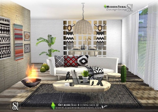 Modern Tribal Dining at SIMcredible! Designs 4 image 5311 670x474 Sims 4 Updates