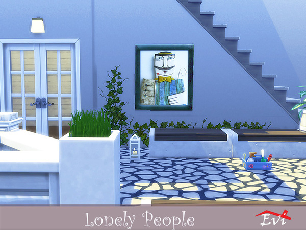 Lonely People wall art by evi at TSR image 5313 Sims 4 Updates