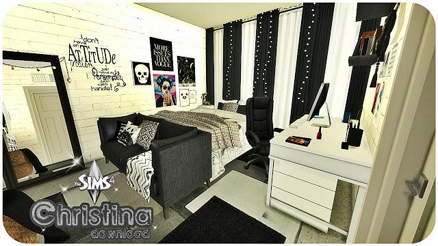 Sims 4 Christina bedroom at Pandasht Productions