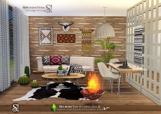 Modern Tribal Dining at SIMcredible! Designs 4 image 5411 670x474 Sims 4 Updates