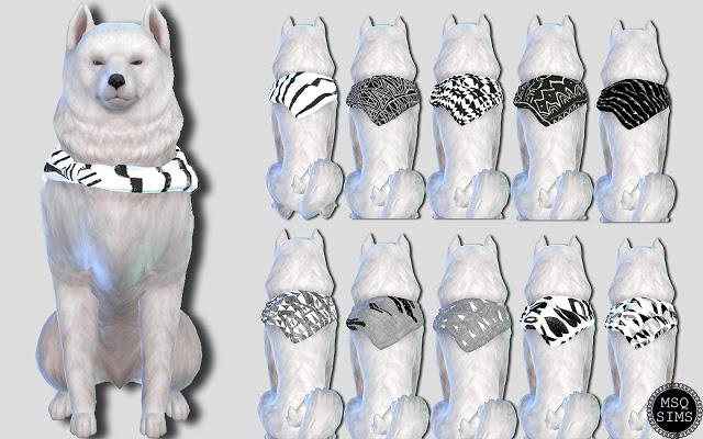 Large Dog Bandanas 01 at MSQ Sims image 5412 Sims 4 Updates