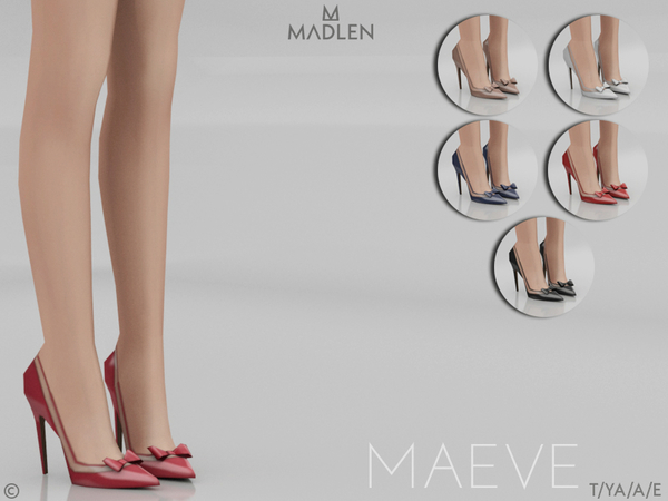 Sims 4 Madlen Maeve Shoes by MJ95 at TSR