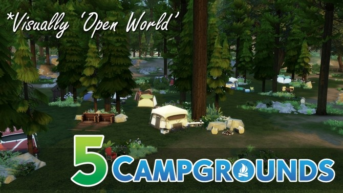 Sims 4 C C C C Campgrounds by TigerWaber at Mod The Sims