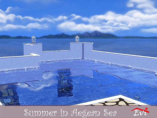 Sims 4 Summer in the Aegean Sea by evi at TSR