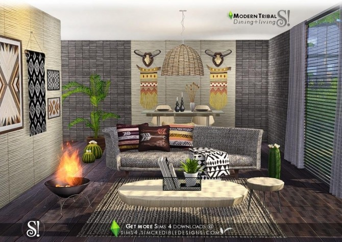 Modern Tribal Dining at SIMcredible! Designs 4 image 5511 670x474 Sims 4 Updates