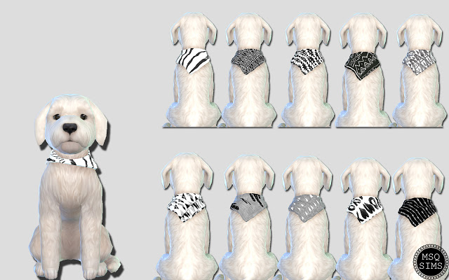Small Dog Bandanas 01 at MSQ Sims image 5512 Sims 4 Updates