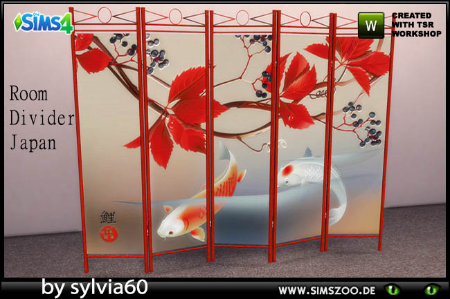 Japan Room Divider by sylvia60 at Blacky's Sims Zoo image 5517 Sims 4 Updates