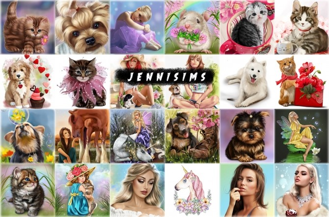 Sims 4 Paintings Magical Moments (26 designs) at Jenni Sims
