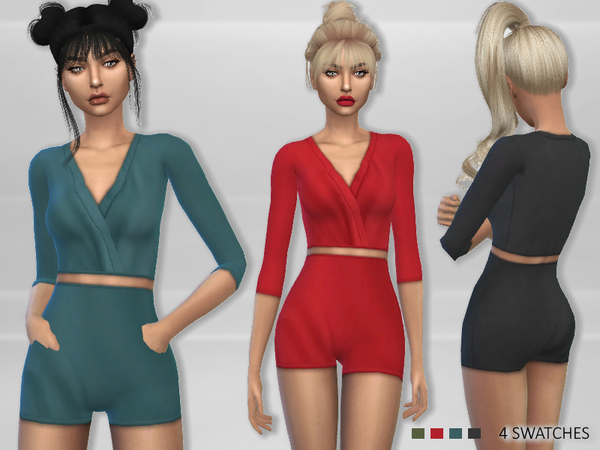 Sims 4 Meela Outfit by Puresim at TSR