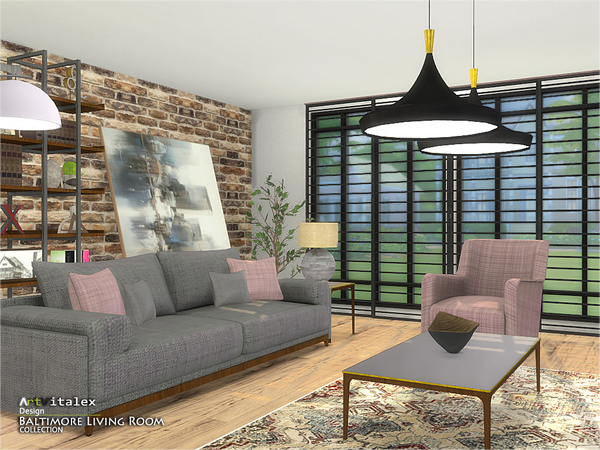 Baltimore Living Room by ArtVitalex at TSR image 562 Sims 4 Updates