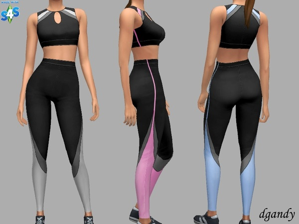 Sims 4 Athletic Outfit Gina by dgandy at TSR