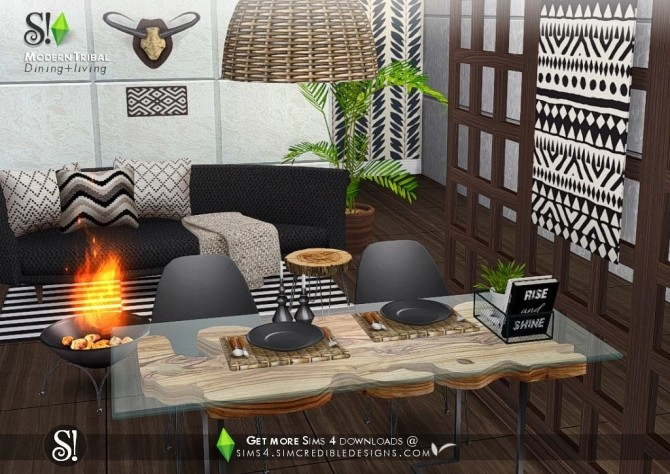 Modern Tribal Dining at SIMcredible! Designs 4 image 5811 670x474 Sims 4 Updates