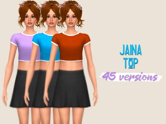 Sims 4 Manueapinnys Jaina top recolors at Midnightskysims