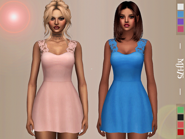 Sims 4 Ami Dress by Margeh 75 at TSR
