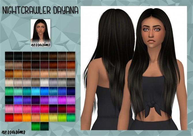 Sims 4 Nightcrawler Impulse Hair Retexture at Nessa Sims