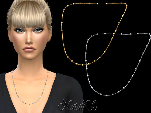 Sims 4 Multy beads station necklace by NataliS at TSR