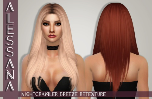 Sims 4 Nightcrawler Breeze Hair Retexture at Alessana Sims