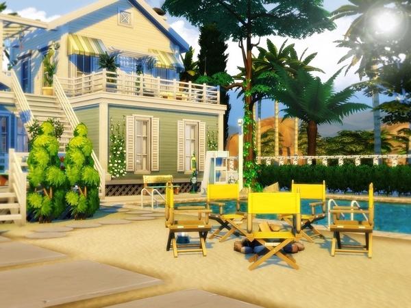 Sims 4 Summer Beach House by MychQQQ at TSR