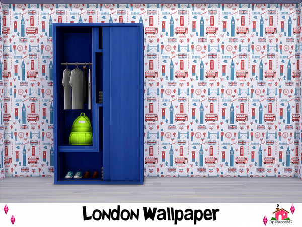 London Wallpaper by sharon337 at TSR image 6100 Sims 4 Updates