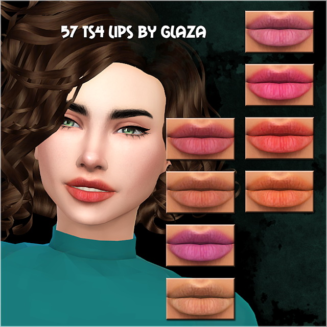 Lips #57 at All by Glaza image 6111 Sims 4 Updates