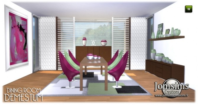 Demestum dining room in 4 shades at Jomsims Creations image 6115 670x355 Sims 4 Updates