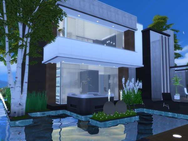 Sims 4 Modern Leilani house by Suzz86 at TSR