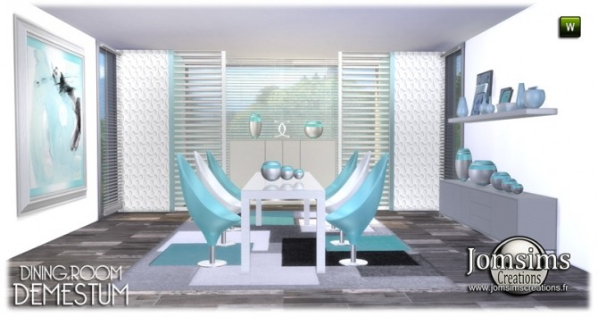 Demestum dining room in 4 shades at Jomsims Creations image 6213 670x355 Sims 4 Updates