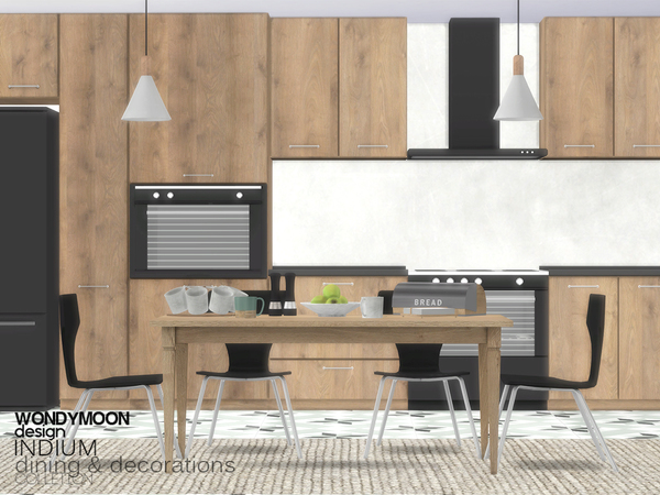Sims 4 Indium Dining Decorations by wondymoon at TSR