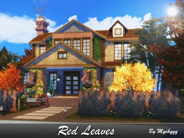 Red Leaves house by MychQQQ at TSR image 627 Sims 4 Updates