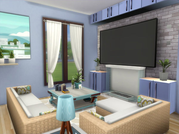 Sims 4 Sunville house No CC by lenabubbles82 at TSR