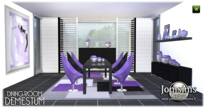 Demestum dining room in 4 shades at Jomsims Creations image 6311 670x355 Sims 4 Updates