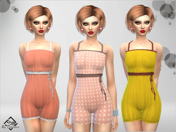 Spring Romper Suit by Devirose at TSR image 633 Sims 4 Updates