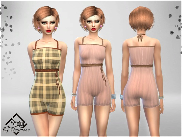 Spring Romper Suit by Devirose at TSR image 643 Sims 4 Updates