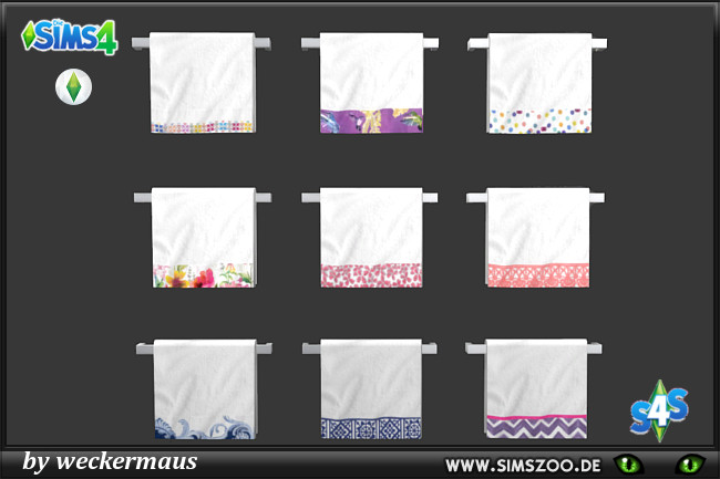 Spring Towels by weckermaus at Blacky's Sims Zoo image 647 Sims 4 Updates