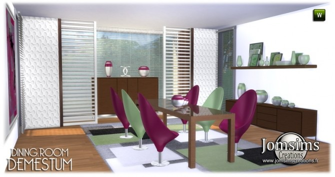 Demestum dining room in 4 shades at Jomsims Creations image 6511 670x355 Sims 4 Updates
