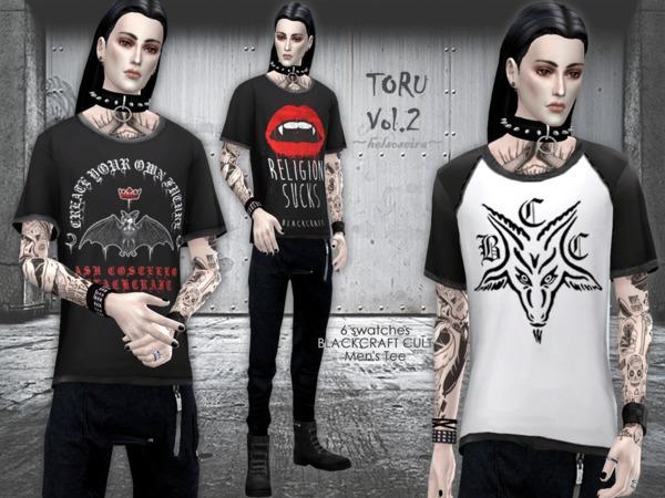 TORU Vol.2 Loose T shirt M by Helsoseira at TSR image 6512 Sims 4 Updates
