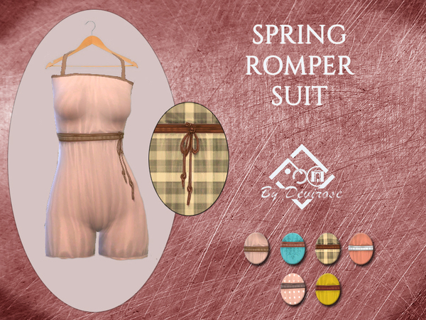 Spring Romper Suit by Devirose at TSR image 653 Sims 4 Updates