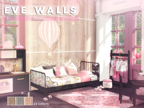 EVE Walls by Pralinesims at TSR image 656 Sims 4 Updates