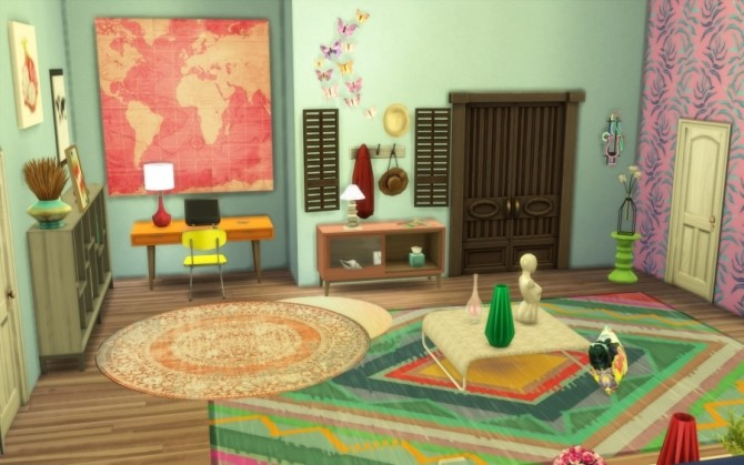 Tropic apartment by Bloup at Sims Artists image 657 670x419 Sims 4 Updates