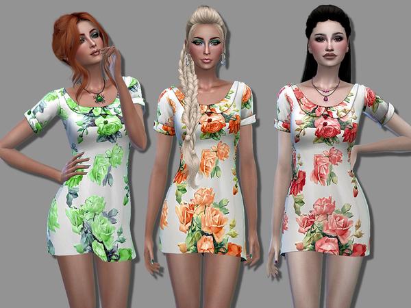 Sims 4 April dress by Simalicious at TSR