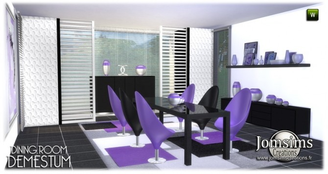 Demestum dining room in 4 shades at Jomsims Creations image 6611 670x355 Sims 4 Updates