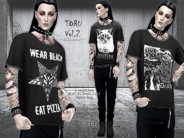Sims 4 TORU Vol.2 Loose T shirt M by Helsoseira at TSR