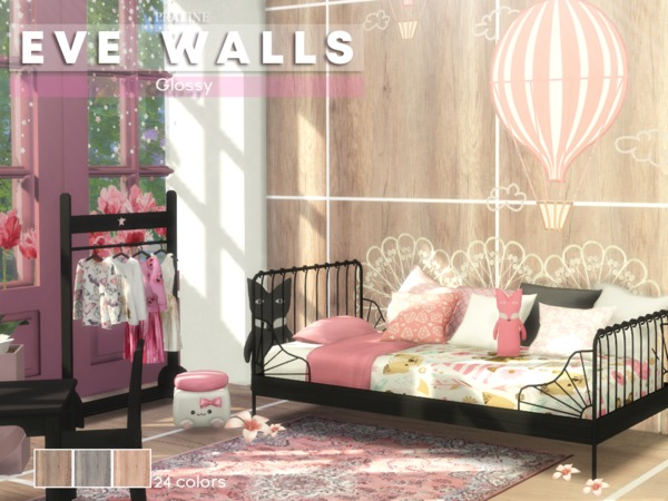 EVE Walls by Pralinesims at TSR image 666 Sims 4 Updates